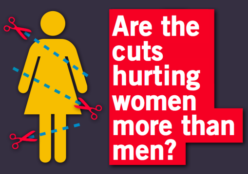 Are the cuts hurting women more than men?