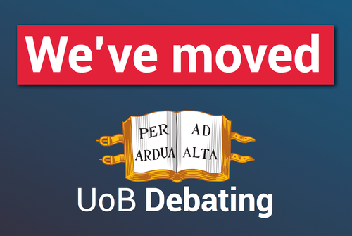 UoB Debating has moved